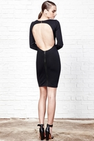 David Lerner Long Sleeve Dress with Back Cut Out in Black