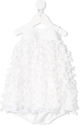 La Stupenderia Sleeveless All Over Floral Applique Dress
