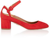 Aquazzura Women's Sweet Thing Suede Mary Jane Pumps-RED