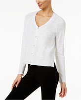Eileen Fisher Linen-Cotton Slub-Knit High-Low Cardigan