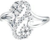 GnZoe Women Wedding Rings Alphabet Letter S Shape With Lab Created Diamond Women Ring Size 6.5