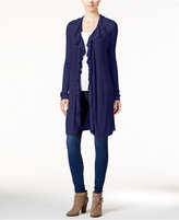 INC International Concepts Petite Ruffled Duster Cardigan, Only at Macy's