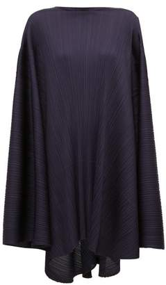 Pleats Please Issey Miyake Sleeveless Oversized-pleated Dress - Womens - Navy