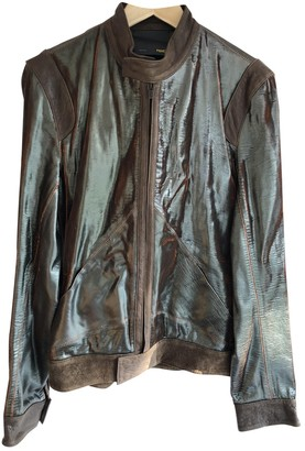 Fendi Green Leather Jackets