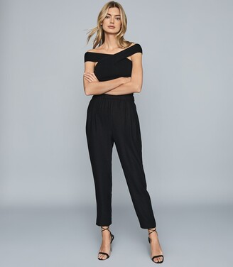 Reiss Joelle - Lurex Joggers in Black
