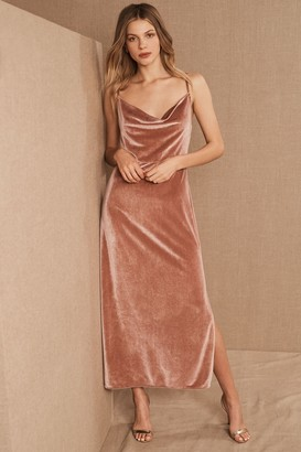 BHLDN Nasha Velvet Dress