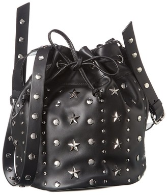 RED Valentino Sky Combat Leather Bucket Bag