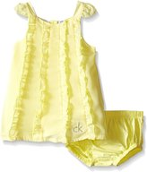 Calvin Klein Baby-Girls Chiffon Overlay and Panty