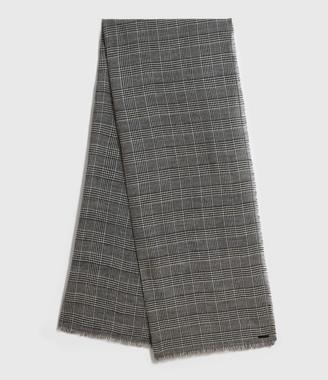 AllSaints Check Wool Woven Scarf