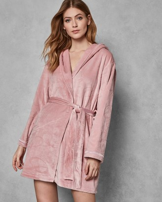Ted Baker Hooded Embossed Dressing Gown