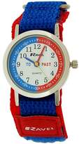 Ravel Children's Boys Time Teacher Blue / Red Velcro Nylon Strap Watch R1507.55