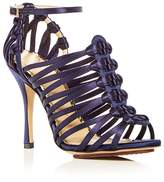 Charlotte Olympia Women's Diva Satin Strappy High Heel Sandals