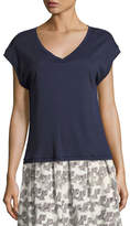 A.P.C. Marthe V-Neck T-Shirt, Navy