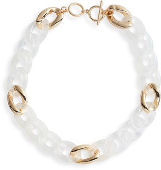Halogen Resin Chain Link Collar Necklace