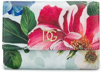 Dolce & Gabbana Floral Print Compact Wallet