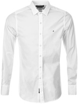 Replay Long Sleeved Slim Fit Shirt White