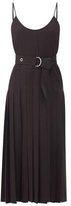 Chloé Pleated Crepe Midi Dress - Black