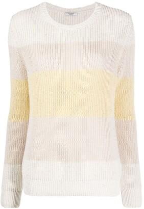 Peserico Round Neck Block Stripe Sweater
