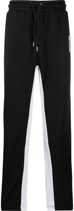 Les Hommes Urban Contrast Stripe Track Trousers