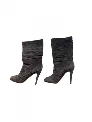 Christian Louboutin Grey Suede Boots