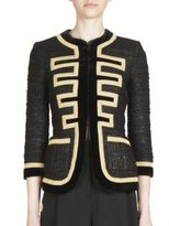 Givenchy Military Tweed Zipper Jacket