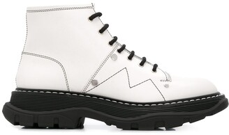 Alexander McQueen lace-up combat boots
