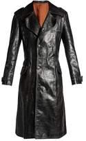 Balenciaga Hybrid leather trench coat