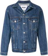 MSGM rear-stripe denim jacket
