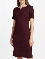 John Lewis Jolie Notched Neck Jersey Pencil Dress, Wine