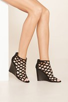 Forever 21 FOREVER 21+ Faux Suede Cutout Wedges