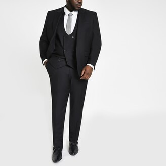 River Island Mens Big and Tall Black suit trousers