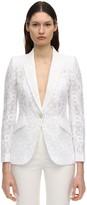 Alexander McQueen Cotton Blend Lace Single Breast Jacket