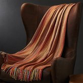Crate & Barrel Shelby Orange Throw