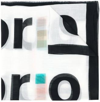 Emporio Armani Logo-Print Scarf