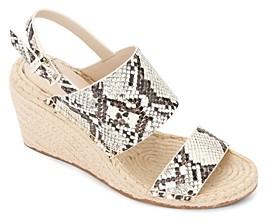 Kenneth Cole Women's Olivia Wedge Heel Espadrille Sandals