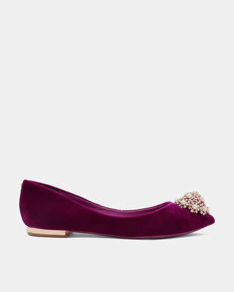 Ted Baker LJANAV Brooch detail pointed pumps