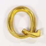 Graham and Green Gold Gilded Letter - Q