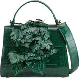 Nancy Gonzalez Lexi Crocodile 3D Leaf Top Handle Bag