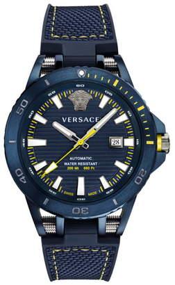 Versace Tech Diver Automatic Textile Strap Watch, 45mm
