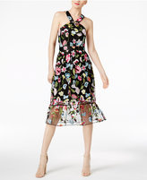 Cynthia Rowley CR By Embroidered Halter Dress, Only at Macy's