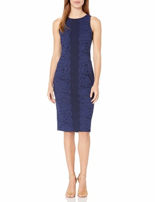 Maggy London Women's Fan Leaf Lace Midi Dress