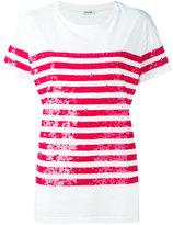 P.A.R.O.S.H. sequin stripes T-shirt - women - Cotton/PVC - M