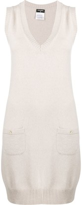 Chanel Pre Owned Cashmere 2010 Sleeveless Knitted Dress