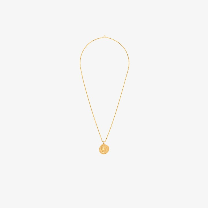 Hermina Athens gold-plated Hermis pendant necklace