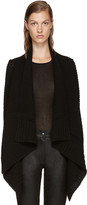Rick Owens Black Wool Cardigan