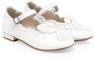 Sophia Webster Little Girl's & Girl's Butterfly Leather Ballerina Mary Jane Flats