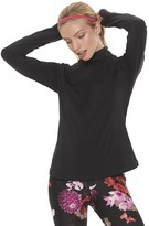 Fila Sport Women's SPORT Signature Fleece Turtle Neck Cross Hem Shirt
