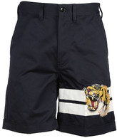 Gucci Gabardine Tiger Shorts
