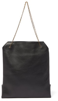The Row Lunch Bag Leather Clutch - Womens - Black