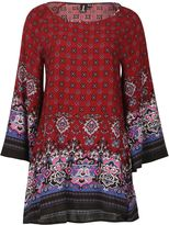 Izabel London Ethnic Print Loose Fit Dress